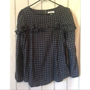 Loft Checkered Blouse
